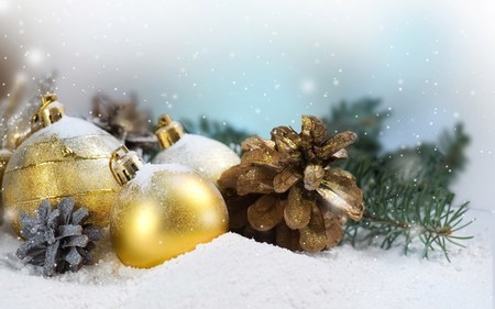 Holiday Balls Christmas Snow Winter Wallpaper 1920x1200